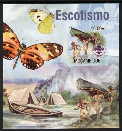 Mozambique 2013 Scouting & Butterflies #4 imperf m/sheet unmounted mint. Note this item is privately produced and is offered purely on its thematic appeal