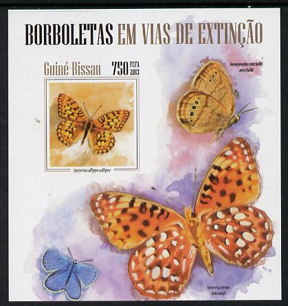 Guinea - Bissau 2013 Butterflies #06 imperf m/sheet unmounted mint. Note this item is privately produced and is offered purely on its thematic appeal