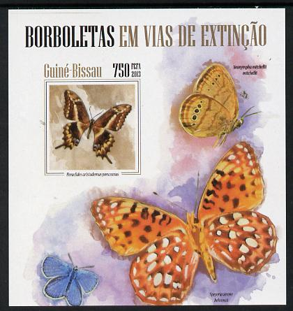 Guinea - Bissau 2013 Butterflies #07 imperf m/sheet unmounted mint. Note this item is privately produced and is offered purely on its thematic appeal