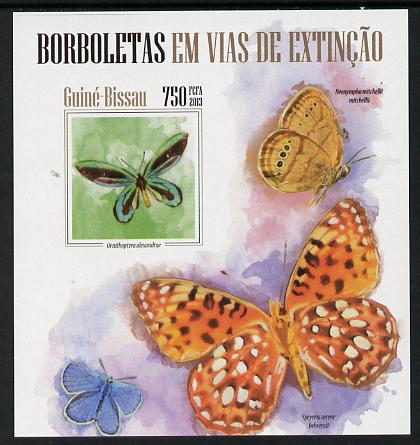 Guinea - Bissau 2013 Butterflies #09 imperf m/sheet unmounted mint. Note this item is privately produced and is offered purely on its thematic appeal