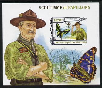 Burundi 2013 Scouting & Butterflies #3 imperf m/sheet unmounted mint