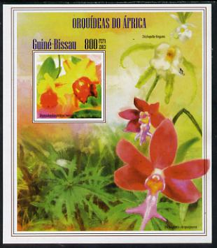 Guinea - Bissau 2013 Orchids of Africa #2 imperf m/sheet unmounted mint. Note this item is privately produced and is offered purely on its thematic appeal