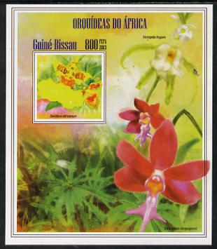 Guinea - Bissau 2013 Orchids of Africa #4 imperf m/sheet unmounted mint. Note this item is privately produced and is offered purely on its thematic appeal