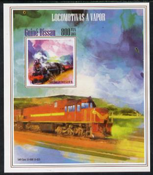 Guinea - Bissau 2013 Steam Locomotives #2 imperf m/sheet unmounted mint. Note this item is privately produced and is offered purely on its thematic appeal
