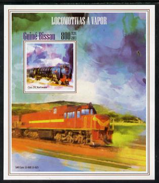Guinea - Bissau 2013 Steam Locomotives #3 imperf m/sheet unmounted mint. Note this item is privately produced and is offered purely on its thematic appeal