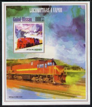 Guinea - Bissau 2013 Steam Locomotives #4 imperf m/sheet unmounted mint. Note this item is privately produced and is offered purely on its thematic appeal