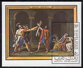 Aden - Mahra 1967 David The Horatii perf m/sheet unmounted mint (Mi BL 5A)
