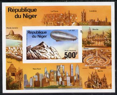 Niger Republic 1976 Zeppelin imperf m/sheet unmounted mint. Note this item is privately produced and is offered purely on its thematic appeal, as SG MS 629