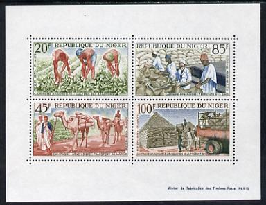 Niger Republic 1963 Groundnut Cultivation perf m/sheet unmounted mint. Note this item is privately produced and is offered purely on its thematic appeal, as SG MS 154a