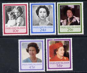 Falkland Islands 1986 Queen's 60th Birthday set of 5 unmounted mint SG 522-26