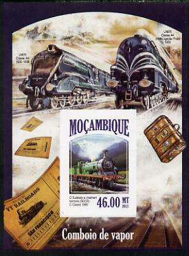Mozambique 2013 Steam Trains #10 - South-East & Chatham Railway imperf deluxe sheet unmounted mint. Note this item is privately produced and is offered purely on its thematic appeal