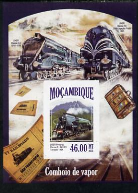 Mozambique 2013 Steam Trains #11 - LNER Tornado imperf deluxe sheet unmounted mint. Note this item is privately produced and is offered purely on its thematic appeal