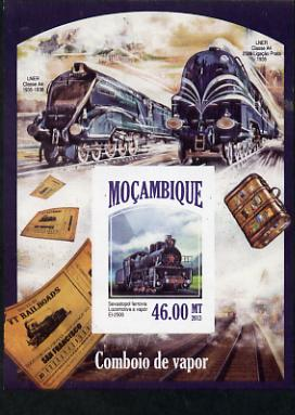 Mozambique 2013 Steam Trains #12 - Sevastopol El-2500 imperf deluxe sheet unmounted mint. Note this item is privately produced and is offered purely on its thematic appeal