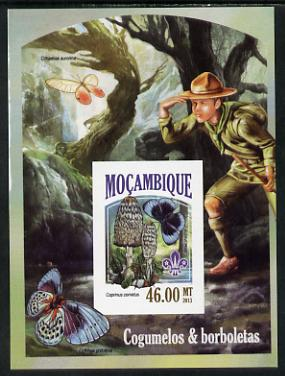 Mozambique 2013 Scouting & Butterflies #8 imperf deluxe sheet unmounted mint. Note this item is privately produced and is offered purely on its thematic appeal