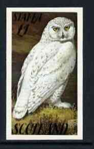 Staffa 1979 Snow Owl imperf souvenir sheet (�1 value)  unmounted mint