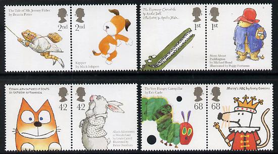 Great Britai 2006 Animal Tales perf set of 8 (4 se-tenant pairs) unmounted mint SG 2589-96