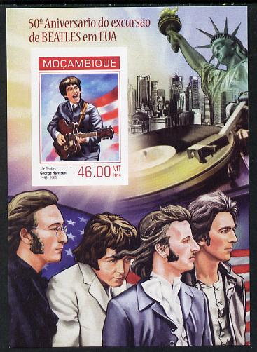 Mozambique 2014 50th Anniversary of Beatles Trip to USA #2 imperf s/sheet unmounted mint. Note this item is privately produced and is offered purely on its thematic appeal