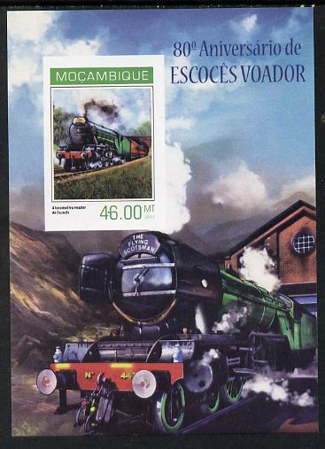 Mozambique 2014 80th Anniversary of Flying Scotsman #2 imperf s/sheet #1 unmounted mint. Note this item is privately produced and is offered purely on its thematic appeal