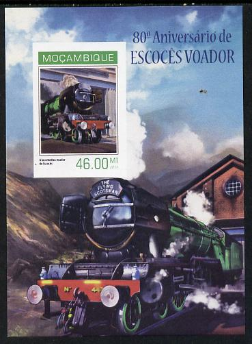 Mozambique 2014 80th Anniversary of Flying Scotsman #3 imperf s/sheet #1 unmounted mint. Note this item is privately produced and is offered purely on its thematic appeal