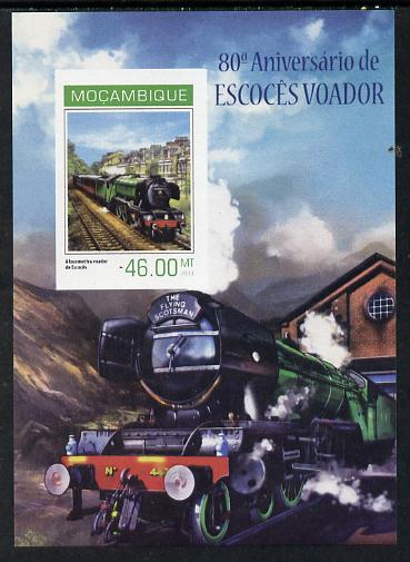 Mozambique 2014 80th Anniversary of Flying Scotsman #4 imperf s/sheet #1 unmounted mint. Note this item is privately produced and is offered purely on its thematic appeal