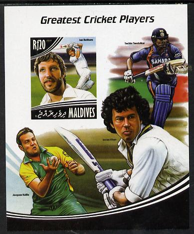 Maldive Islands 2014 Greatest Cricket Players - Ian Botham imperf s/sheet unmounted mint. Note this item is privately produced and is offered purely on its thematic appeal