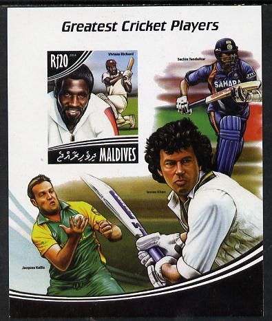 Maldive Islands 2014 Greatest Cricket Players - Viv Richards imperf s/sheet unmounted mint. Note this item is privately produced and is offered purely on its thematic appeal
