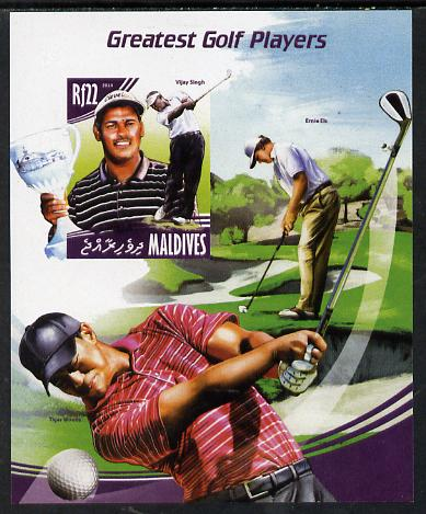 Maldive Islands 2014 Greatest Golf Players - Vijay Singh imperf s/sheet unmounted mint. Note this item is privately produced and is offered purely on its thematic appeal