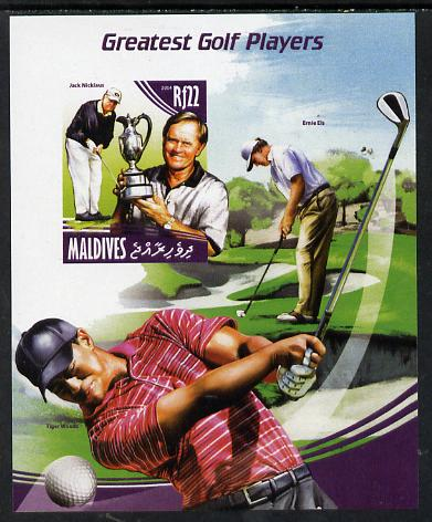 Maldive Islands 2014 Greatest Golf Players - Jack Nicklaus imperf s/sheet unmounted mint. Note this item is privately produced and is offered purely on its thematic appeal