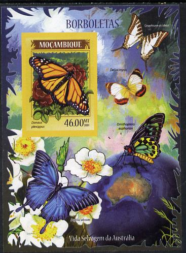 Mozambique 2014 Butterflies #01 imperf s/sheet A - unmounted mint. Note this item is privately produced and is offered purely on its thematic appeal
