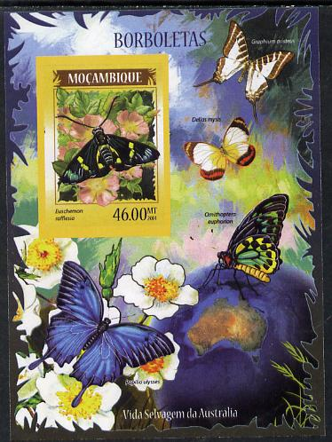 Mozambique 2014 Butterflies #01 imperf s/sheet D - unmounted mint. Note this item is privately produced and is offered purely on its thematic appeal