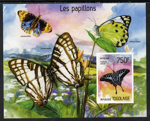 Togo 2014 Butterflies imperf s/sheet A - unmounted mint. Note this item is privately produced and is offered purely on its thematic appeal