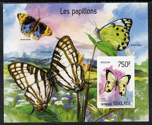 Togo 2014 Butterflies imperf s/sheet B - unmounted mint. Note this item is privately produced and is offered purely on its thematic appeal