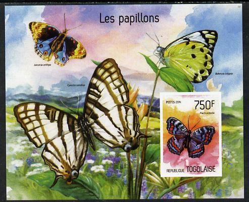 Togo 2014 Butterflies imperf s/sheet C - unmounted mint. Note this item is privately produced and is offered purely on its thematic appeal