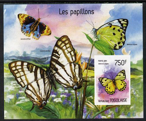 Togo 2014 Butterflies imperf s/sheet D - unmounted mint. Note this item is privately produced and is offered purely on its thematic appeal