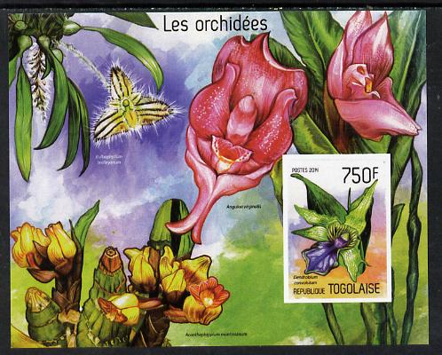 Togo 2014 Orchids imperf s/sheet A - unmounted mint. Note this item is privately produced and is offered purely on its thematic appeal