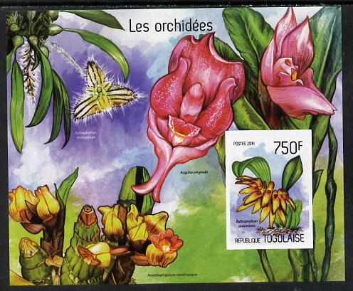 Togo 2014 Orchids imperf s/sheet C - unmounted mint. Note this item is privately produced and is offered purely on its thematic appeal