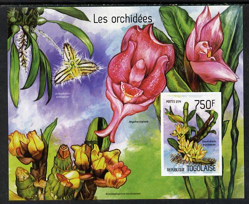 Togo 2014 Orchids imperf s/sheet D - unmounted mint. Note this item is privately produced and is offered purely on its thematic appeal