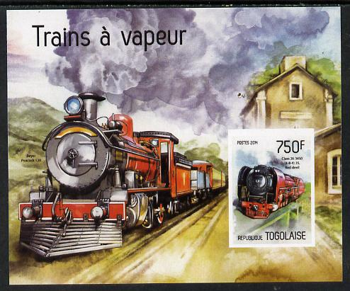 Togo 2014 Steam Locomotives imperf s/sheet A - unmounted mint. Note this item is privately produced and is offered purely on its thematic appeal