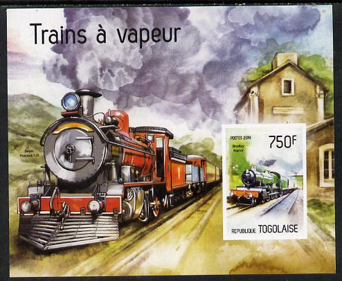 Togo 2014 Steam Locomotives imperf s/sheet C - unmounted mint. Note this item is privately produced and is offered purely on its thematic appeal
