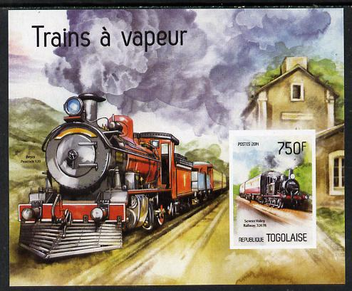 Togo 2014 Steam Locomotives imperf s/sheet D - unmounted mint. Note this item is privately produced and is offered purely on its thematic appeal