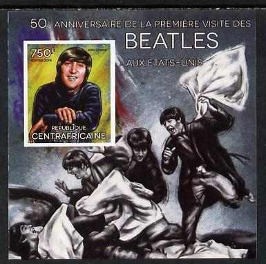 Central African Republic 2014 The Beatles - John Lennon imperf deluxe m/sheet unmounted mint. Note this item is privately produced and is offered purely on its thematic appeal