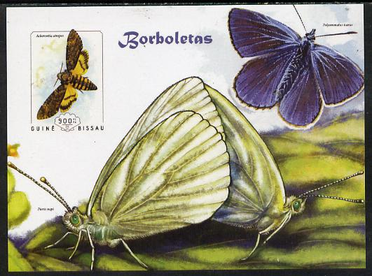 Guinea - Bissau 2014 Butterflies #07 imperf s/sheet unmounted mint. Note this item is privately produced and is offered purely on its thematic appeal