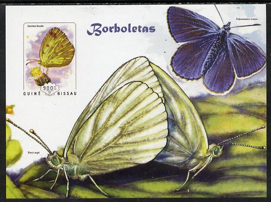 Guinea - Bissau 2014 Butterflies #08 imperf s/sheet unmounted mint. Note this item is privately produced and is offered purely on its thematic appeal