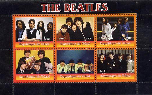 Chad 2014 The Beatles #2 perf sheetlet containing 6 values unmounted mint. Note this item is privately produced and is offered purely on its thematic appeal. .