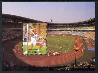 St Vincent - Grenadines 1988 Seoul Olympic Games the unissued $6 m/sheet (High Jump) unmounted mint