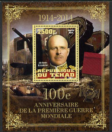 Chad 2014 Centenary of Start of WW1 #2 perf deluxe sheet containing one value unmounted mint