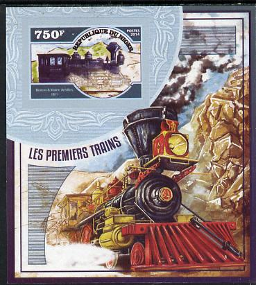 Niger Republic 2014 Early Steam Trains #1 imperf s/sheet unmounted mint. Note this item is privately produced and is offered purely on its thematic appeal