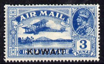 Kuwait 1933-34 Air 3a wmk stars pointing to left lightly mounted mint SG 32