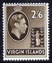 British Virgin islands 1938-47 KG6 2s6d sepia on ord paper unmounted mint SG118a