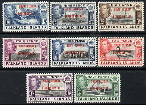 Falkland Islands Dependencies - South Georgia 1944 KG6 opt